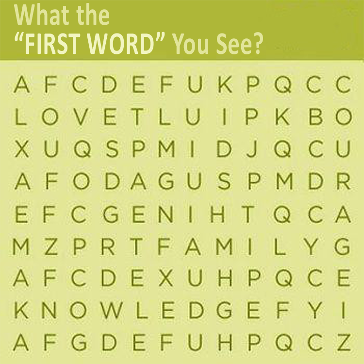 what the first word you see