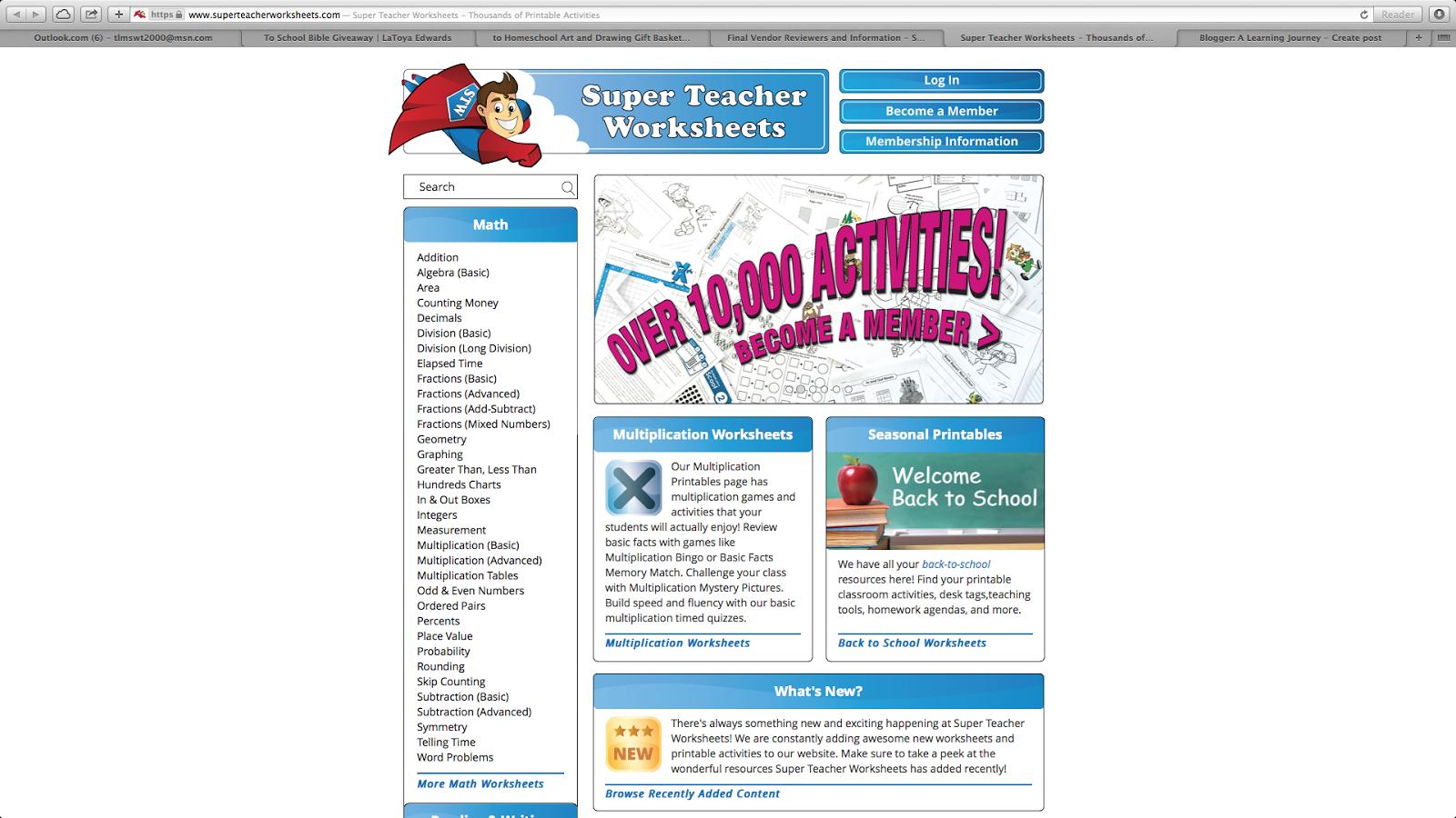 Workbooks super teacher worksheets pdf : A Learning Journey: TOS Review: Super Teacher Worksheets