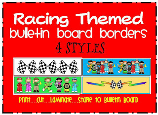 racing themed bulletin board border