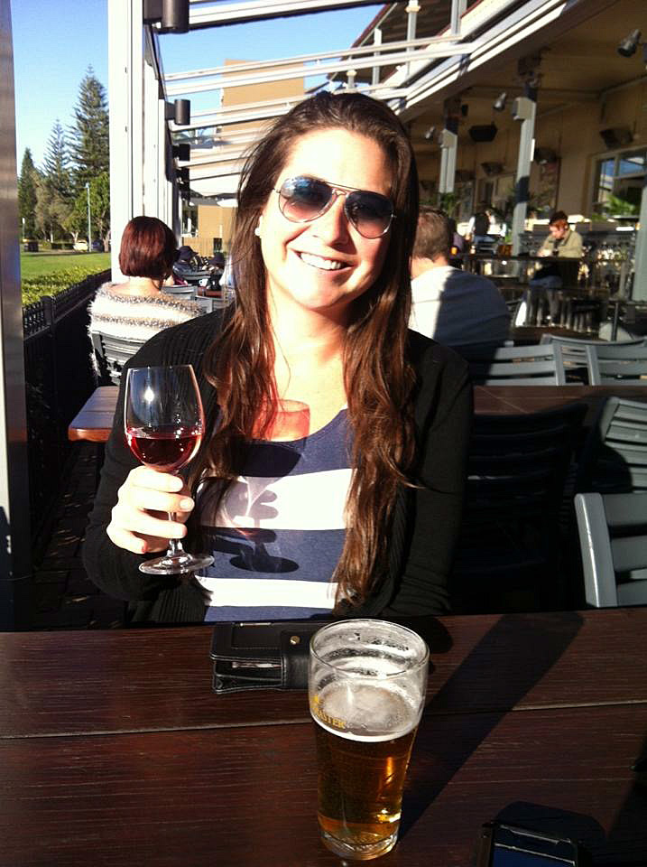 Girl with wine at Beach House Port Macquarie