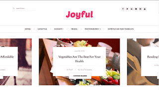 JoyFul Fashion Blogger Template