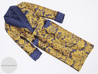 mens luxury quilted silk dressing gown paisley long warm robe traditional victorian housecoat man full length extra large
