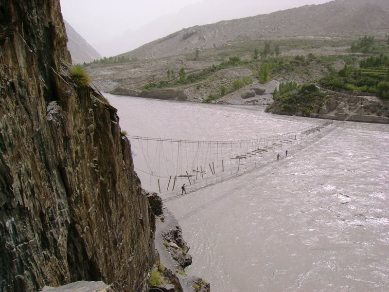 picturesque Bridge; Hussaini suspension bridge; Hunza river bridge; Giglit Baltistan bridge