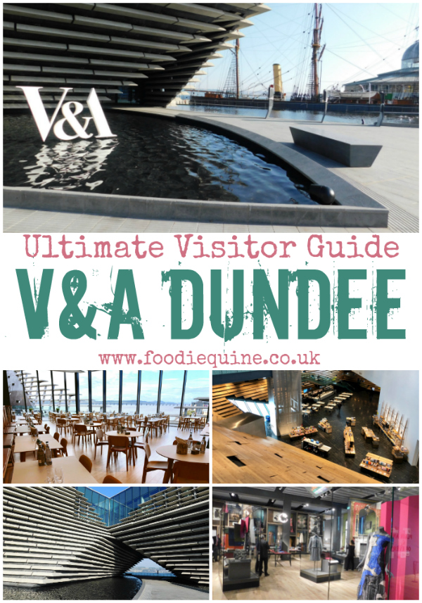 www.foodiequine.co.uk The ultimate practical guide for those wishing to visit Dundee in Scotland's new V&A Museum of design. Located in the regenerated Dundee Waterfront, open daily from 10am-5pm with free entry. Designed by acclaimed Japanese architect Kengo Kuma and built at a cost of £80 million. Exhibits include Scottish Design Galleries, Charles Rennie Mackintosh Oak Room and Touring Exhibition Galleries (Ocean Liners: Speed and Style until 24 Feb 2019). Full onsite facilities with cafe, restaurant, picnic room, accessible for all toilets and gift shop.