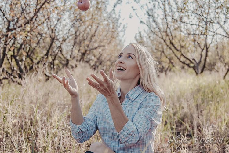 фотосессия в яблоневом саду, место для фотосессий