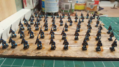 Varnished some union Infantry it's nice to be getting on with this project.
