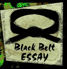 Black belt essay