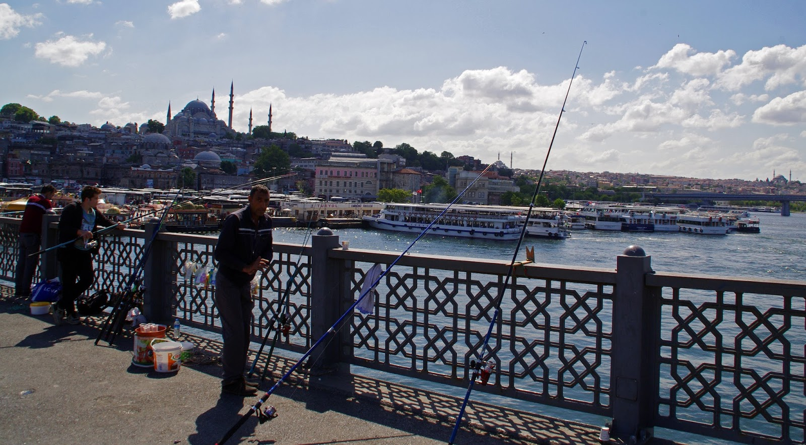 Fishing on bosphorus Istanbul