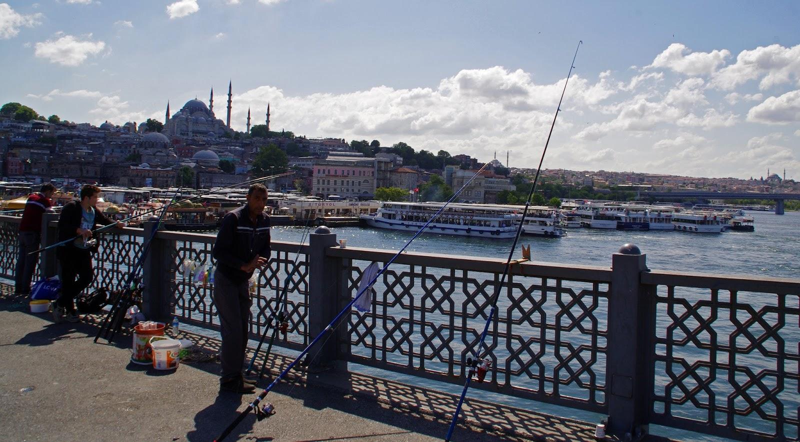 Fishing on bosphorus Istanbul