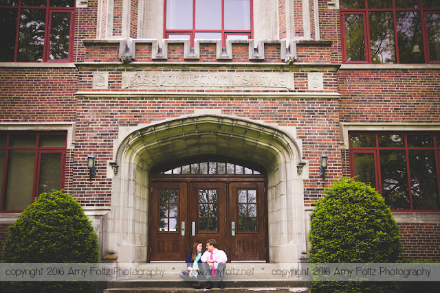 engagement session at Rose Hulman