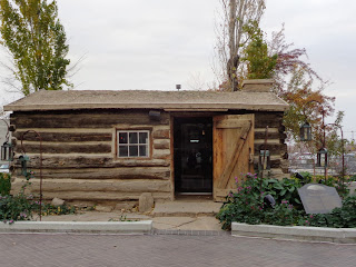 Utah settler log cabin reproduction, Salt Lake City
