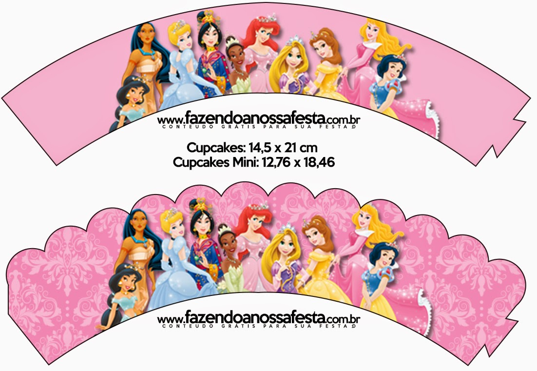 photo about Disney Princess Cupcake Toppers Free Printable titled Disney Princess Social gathering: Totally free Occasion Printables. - Oh My Fiesta