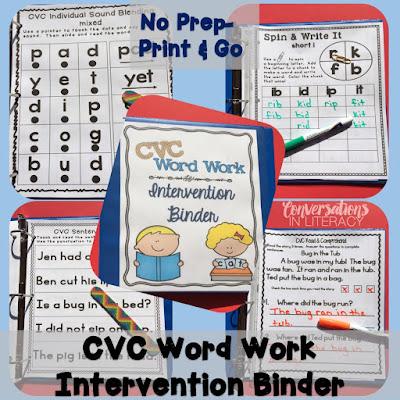 CVC Intervention Binder for RTI