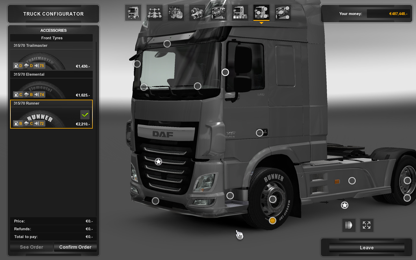 products code euro truck 2