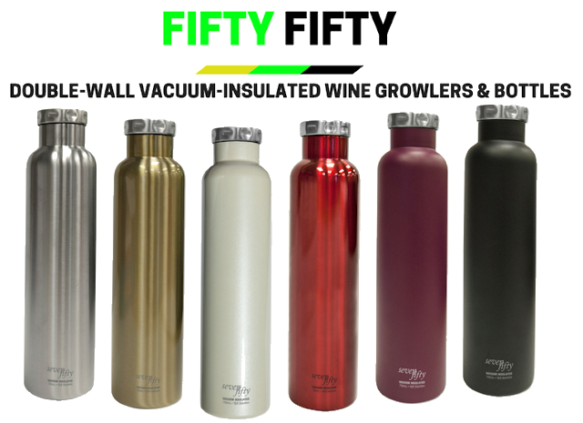 Fifty Fifty 750ml Wine Growler