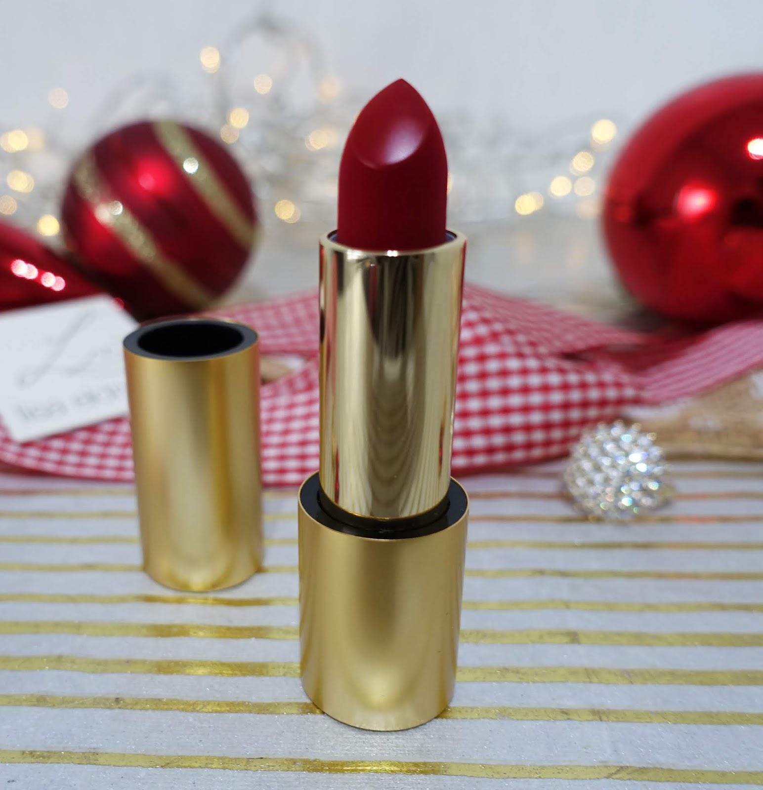 Close up of the bullet from Lisa Eldridge's blue-red lipstick Velvet Ribbon
