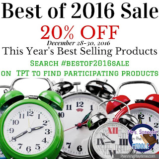 Best of 2016 Sale!  December 28-30, 2016 > Search #bestof2016sale on Teachers Pay Teachers!
