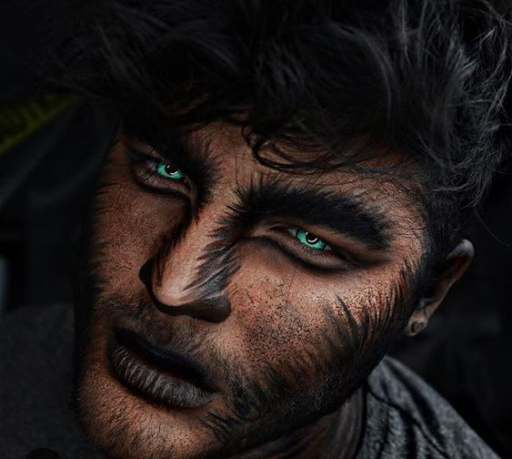 maquiagem lobisomem de halloween masculina facil