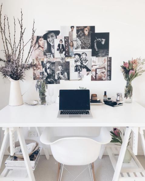 floral desk inspiration