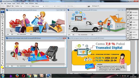 desain gambar di laptop asus vivobook flip