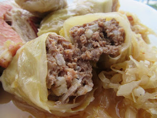 Cabbage rolls with sauerkraut