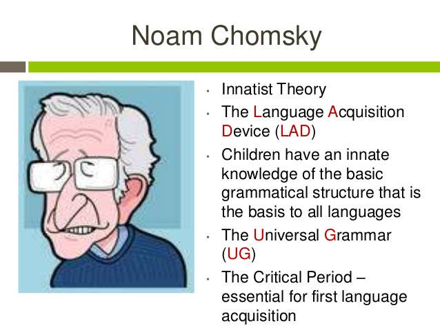 a report on noam chomskys argument on language acquisition Home browse by discipline linguistics and language linguistics and language prev a brief history of the verb language acquisition authored by: noam chomsky a classic work that situates linguistic theory in the broader cognitive sciences, formulating and developing the minimalist.