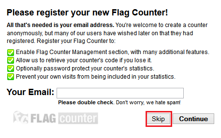 Memasang Widget Flag Counter