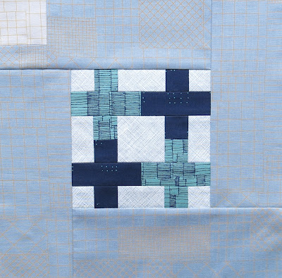 Modern sampler quilt - Block #15 - Inspired by Tula Pink City Sampler
