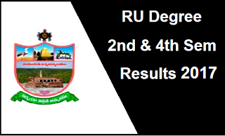 RU Degree 2nd 4th Sem Results 2017