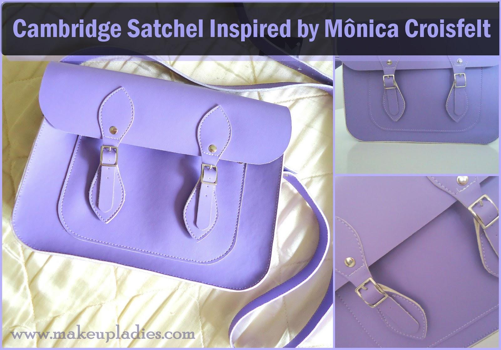 6d3e742b4 Hoje vou mostrar pra vocês a minha bolsa cambridge satchel inspired que  comprei da Mônica Croisfelt.