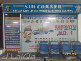 SIM Corner Mall Chandra, Bandar Lampung