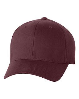 topi baseball maroon