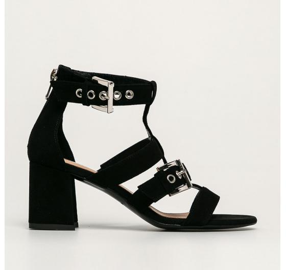 Wojas - Sandale de piele intoara negre de zi model modern fashion