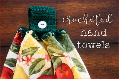 crocheted hand towels