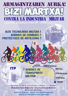 Cartel de la marcha antimilitar