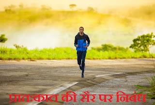 Essay on Morning Walk in Hindi