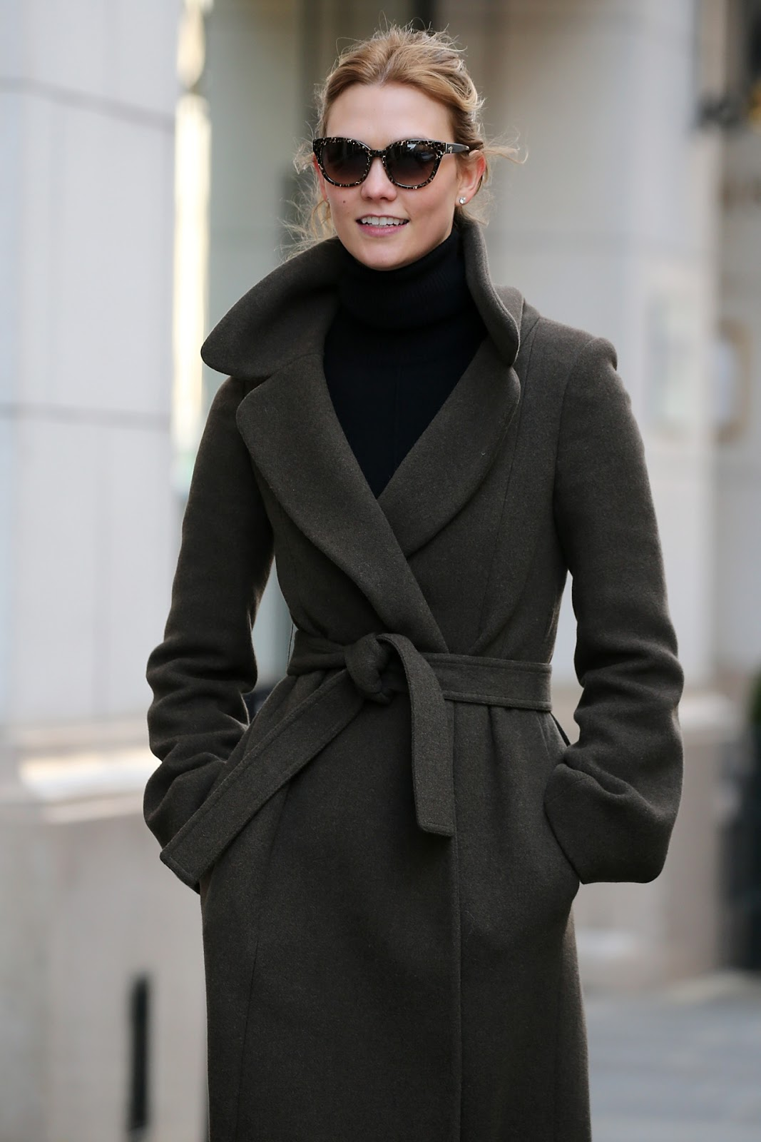 Karlie Kloss Wears a Wrap Out as She Enjoys Paris