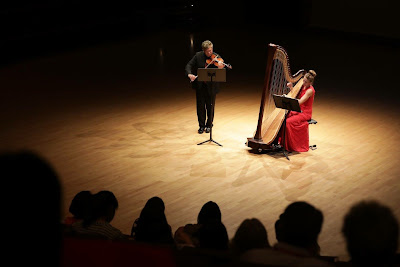 Contemporary Harp Music by Patricio da Silva performed by the Crimson Duo