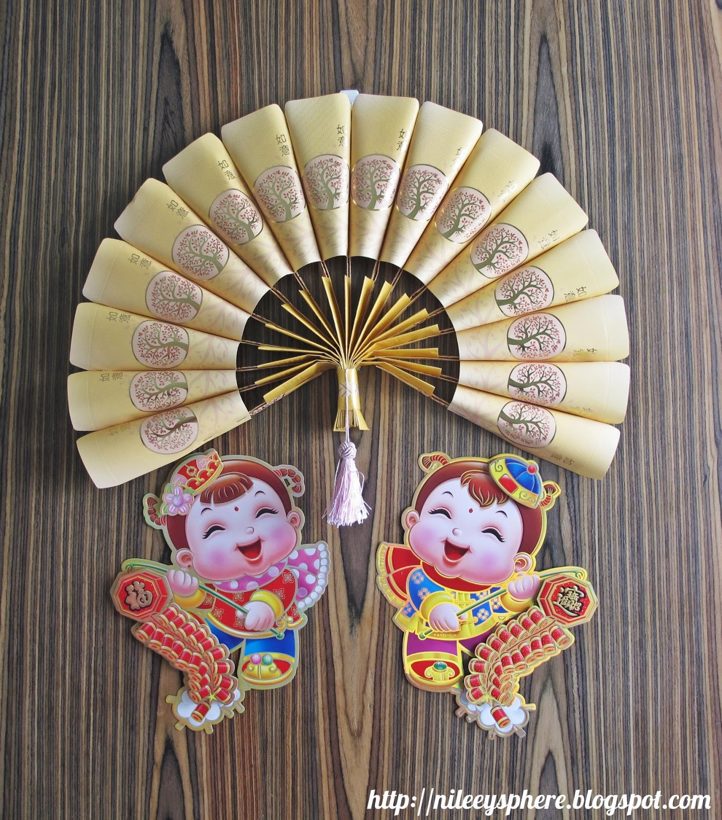 Nileey 39 s sphere ang pow packet fan ornament for Ang pow packet decoration