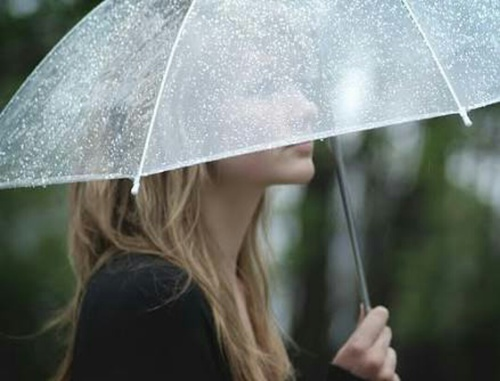 cute girl on rain whatsapp profile dp