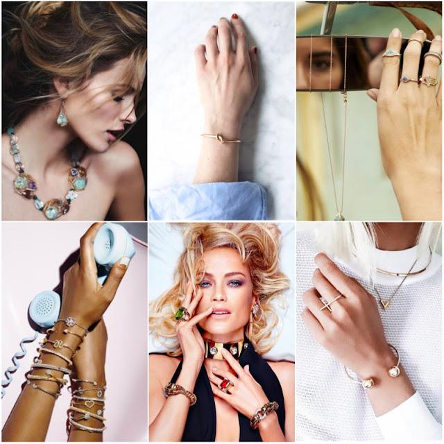 fotos de detalhes usando jóias