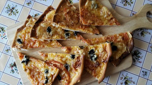 Пицца дома - Тонкое тесто для пиццы
