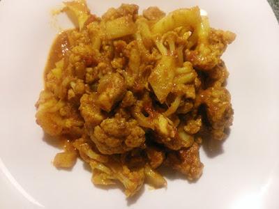 Zdrowy obiad z curry i kalafiora