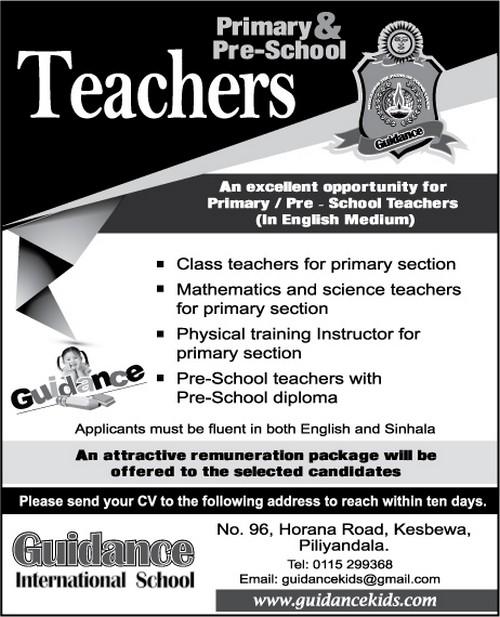 Primary And Pre School Teachers