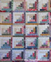 free log cabin mini quilt pattern