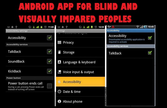 Useful Android apps for visually impaired people