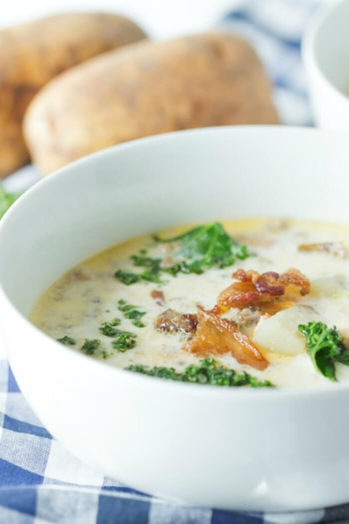 Sausage Bacon and Potato Soup from Olive Garden