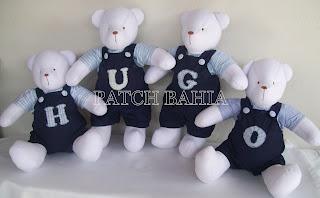 Quarto dos Ursinhos Azul Marinho e Branco