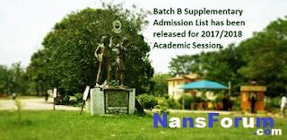 FUTO Supplementary Admission List (Batch B) 2017/2018 Published
