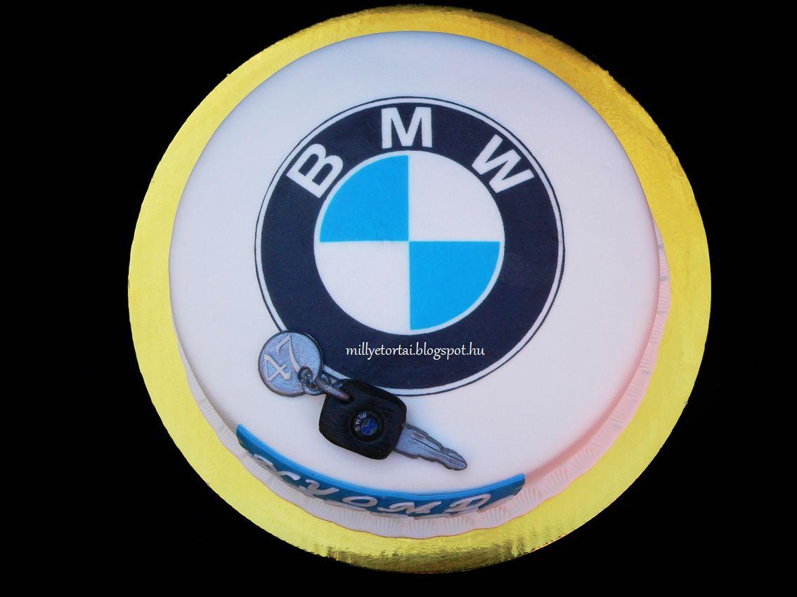 bmw szülinapi köszöntő Millye finomságai: BMW logós torta bmw szülinapi köszöntő